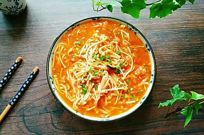 番茄烩金针菇#花10分钟,做一道菜!#