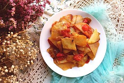 #多力金牌大厨带回家#西红柿土豆片