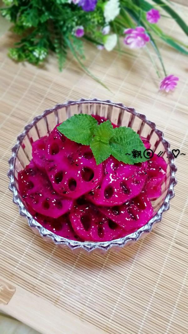 胭脂藕片----能排毒养颜的小吃的做法
