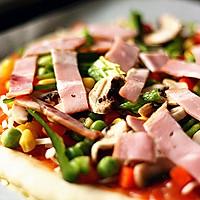 培根杂蔬披萨的做法图解11