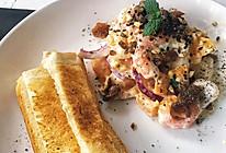 鲜虾芒果山竹沙拉的做法