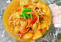 龙利鱼番茄金针菇汤的做法