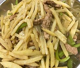 尖椒土豆丝炒瘦肉的做法