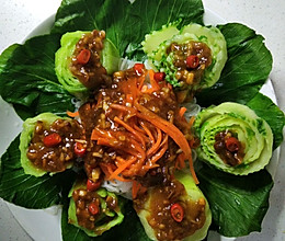 青菜这样做不仅好吃还好看,营养不流失,养颜还美容的做法