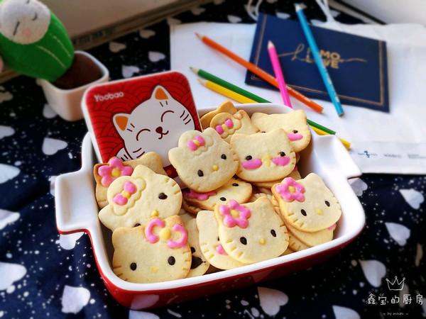 萌物~Hello Kitty饼干的做法