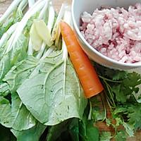 -小白菜肉丸汤#平衡美食大作战#的做法图解1