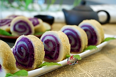 """用""""抗癌大王""""做出的美食——紫薯水晶糕"""