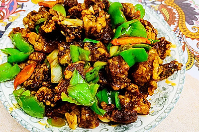 东北名菜~秘制干炸香酥牛肉段