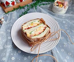 #秋天怎么吃#金枪鱼三明治【宝宝最爱早餐】的做法