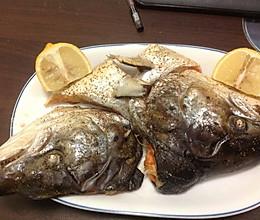 烤三文鱼头的做法