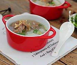 滋补御寒白萝卜羊棒骨汤的做法