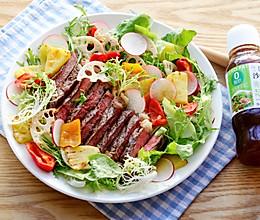 牛排果蔬沙拉-丘比沙拉汁青梅口味的做法