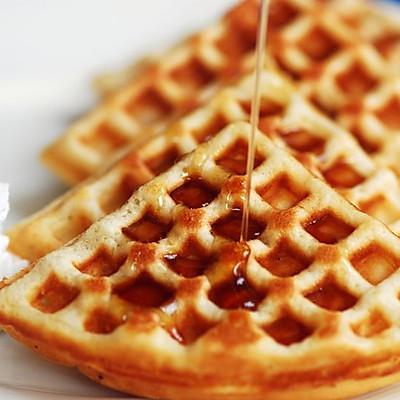 美式华夫饼早餐