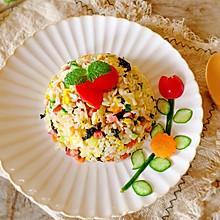 #夏日开胃餐#剩米饭的新吃法-海苔香肠蛋炒饭