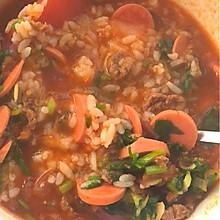 捞海底番茄汤拌饭
