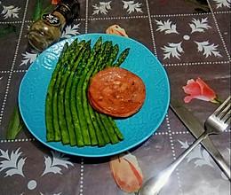 #餐桌上的春日限定#  黑椒芦笋火腿的做法