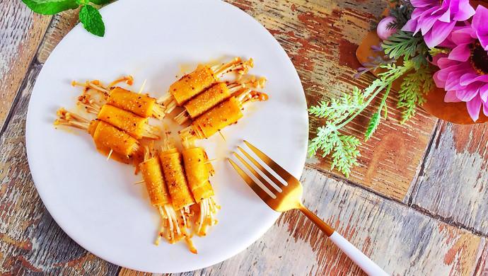 #一人一道拿手菜#烤金针菇卷