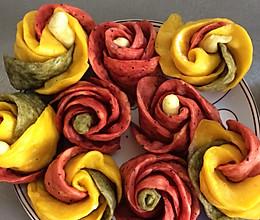 各种玫瑰花卷的做法