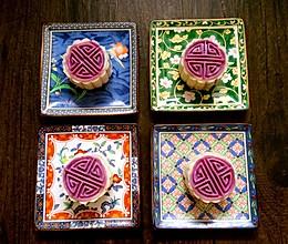 冰皮紫薯月饼———绝美一物一器的做法
