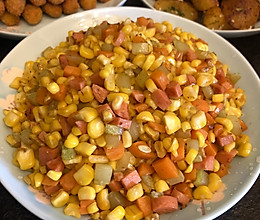 玉米胡萝卜黄瓜火腿丁的做法