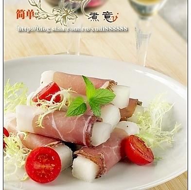 菜鸟都可以轻易搞掂的经典意大利菜--蜜瓜火腿卷