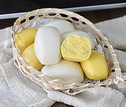 黄白双色刀切馒头的做法