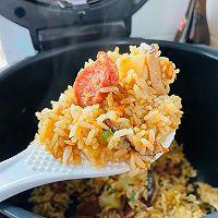 #憋在家里吃什么#香菇土豆腊肠焖饭的做法图解21