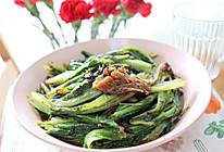 豆豉鲮鱼罐头炒油麦菜的做法