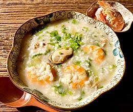 干虾咸粥的做法