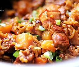 红烧肉焖饭的做法