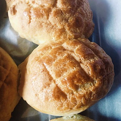 港式菠萝包(广式酥皮面包)