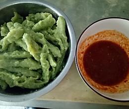 菠菜蘸片子(小时候的美味)的做法