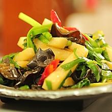 韭菜炒山药#花10分钟,做一道菜!#