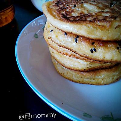 早餐饼之发面玉米豆面饼