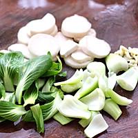 #一道菜表白豆果美食#杏鲍菇虾干青菜小炒的做法图解3
