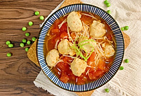 无油低卡番茄鸡肉丸子汤的做法