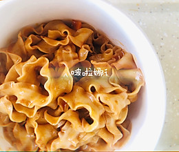 #花10分钟,做一道菜!#私房酱拌刀削面的做法