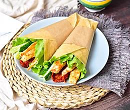 #秋天怎么吃#鸡胸肉全麦卷的做法
