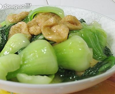 青菜面筋包