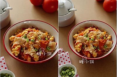 10分钟速成【番茄鸡蛋烩面片】