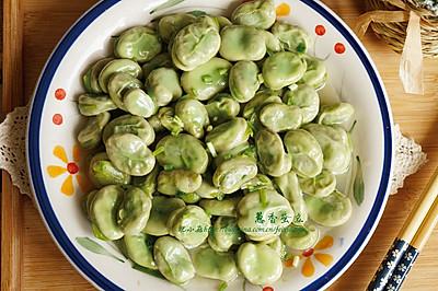立夏时节蚕豆香:葱香蚕豆