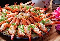 宴客必备|明月玉兔团圆虾(升级版蒜蓉粉丝蒸虾)的做法