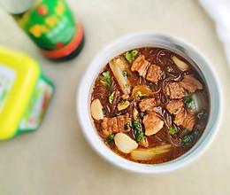 #福气年夜菜#五花肉大白菜炖红薯粉丝的做法
