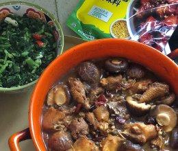 香菇烧土鸡的做法