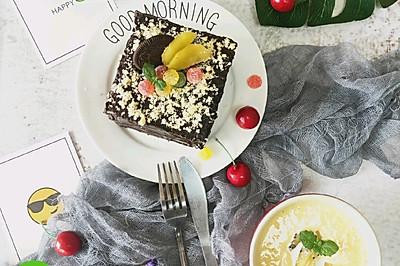 用吐司片偽作的巧克力蛋糕