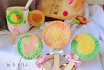 #爱好组-低筋#小朋友最爱的彩虹棒棒糖蛋糕的做法