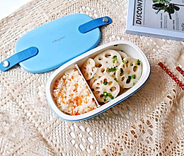 醋溜藕片便当盒的做法