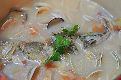 黄鱼蛤蜊浓汤