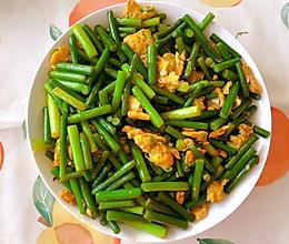 超级下饭无敌好吃的蒜苔炒鸡蛋的做法