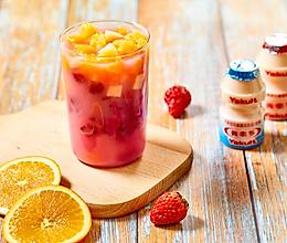 简单又营养的养乐多水果冷泡茶的做法